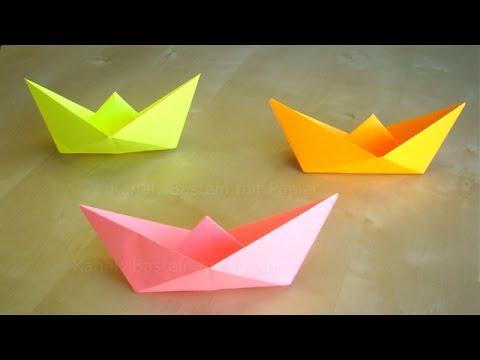 papierschiff falten basteln mit kindern leichtes origami boot basteln ideen youtube. Black Bedroom Furniture Sets. Home Design Ideas