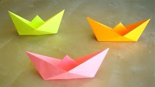 Papierschiff falten - Basteln mit Kindern - Leichtes Origami Boot - Basteln Ideen