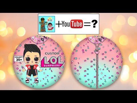Boy Series Ryan ToysReview Toy Review 2D Paper Custom LOL Surprise Dolls