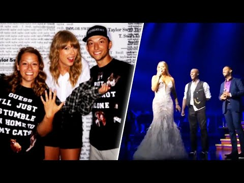Taylor Swift and Mariah Carey Help 2 Couples Get Engaged