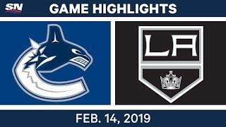 NHL Highlights | Canucks vs. Kings - Feb 14, 2019
