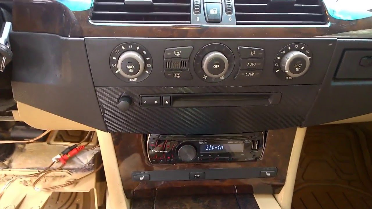 bmw 530i 2007 instalar radio radio removal kit radio install  [ 1280 x 720 Pixel ]