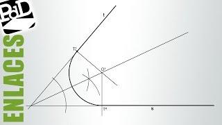 Enlazar dos rectas que se cortan conociendo un punto de enlace en una de ellas.