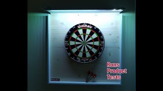 Winmau Dartboard Wand Montage mit LED Beleuchtung Blade 5 Dart Steel selfmade bauen