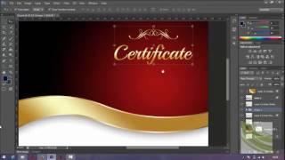 membuat sertifikat dengan photoshop