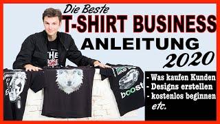 T-shirt Business Aufbauen 2020  Kompletter Ablauf  Tutorial