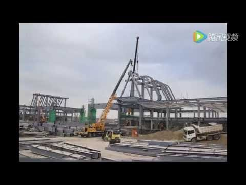 Frame-by-Frame Animation Of Construction Of Kenyan SGR Nairobi South Station