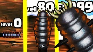 IS THIS THE STRONGEST HIGHEST LEVEL WORM INSECT EVOLUTION? (9999+ SIZE BIGGEST LEVEL) l Effing Worms