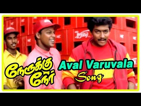 Suriya New Movie Songs | Aval Varuvala song | Nerukku Ner Movie Scenes | Surya brings Simran home