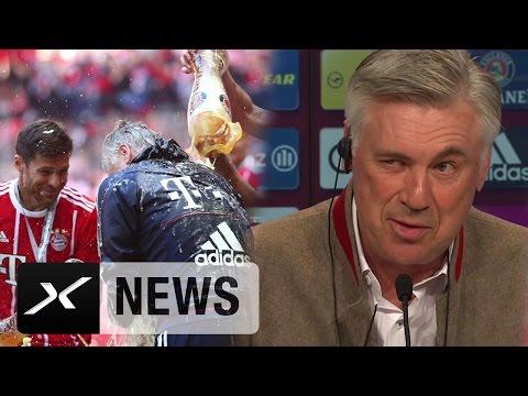 Carlo Ancelotti über Bierduschen und die Meisterfeier   FC Bayern München