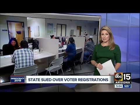 Arizona Secretary of State sued over voter registrations