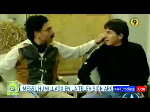 Messi is humiliated in a TV program in Argentina