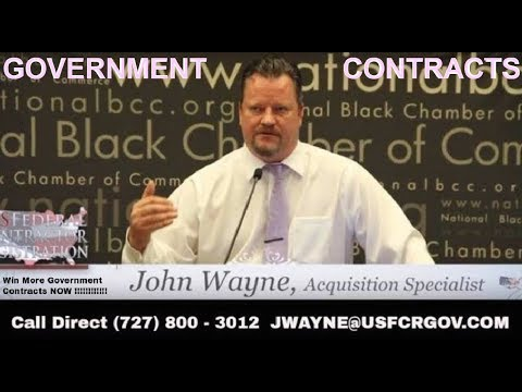 Who Is John Wayne And How Can He Help You Win Contracts Part 2 Government Contracts Government Procu
