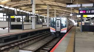JR東日本越後線E129系[普通]離站(新潟)
