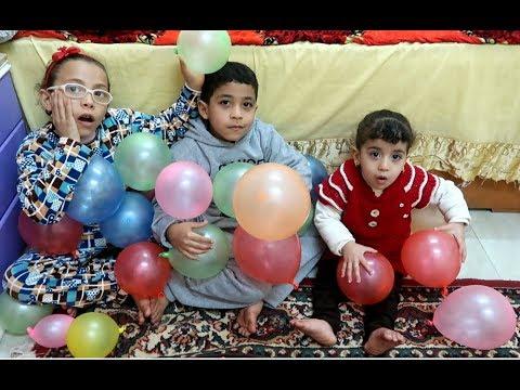تحدي نفخ البالونات ملكه ضد عبدالله شوفو مين فاز !! Balloon