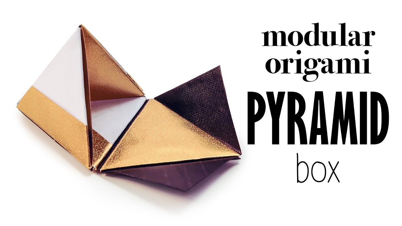 Modular Origami Pyramid Gift Box Tutorial Diy Youtube