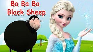 Donmuş Ba Ba Black Sheep Tekerlemeler Çocuklar | Çocuklar Donmuş Şarkılar için Dondurulmuş 3D Çizgi film Tekerlemeler |