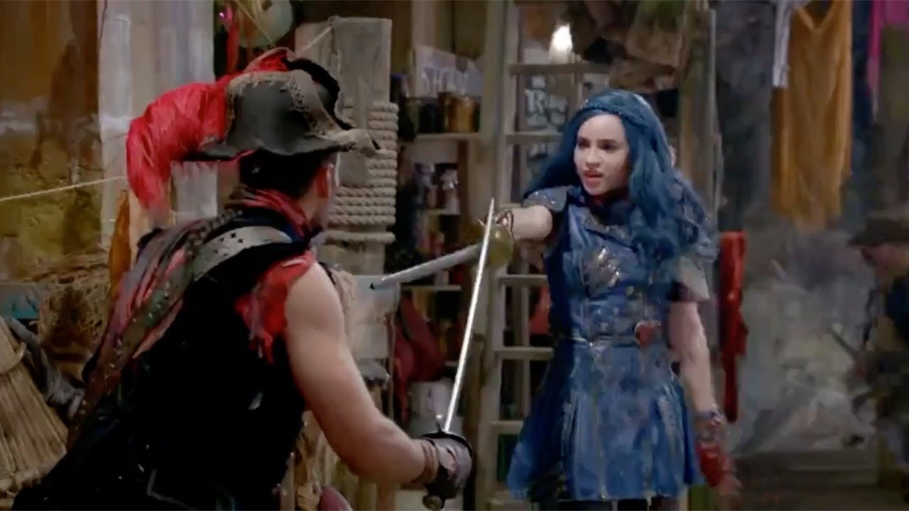 Evie S Sword Fighting Scenes Descendants 2 Youtube