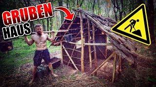GRUBENHAUS Bushcraft Shelter #012 - Lagerbau - Outdoor Bushcraft Camp | Fritz Meinecke