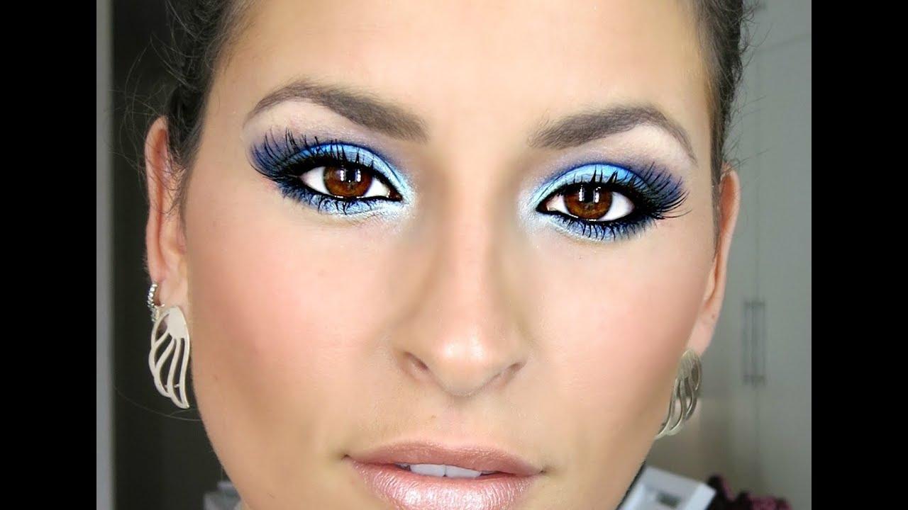 Como maquillar a una quinceaрів±era con vestido azul