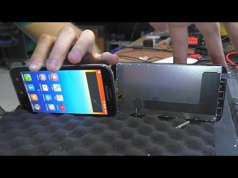 Разбито стекло тачскрина. Смартфон Lenovo A859. Замена модуля дисплея