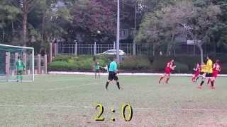 香港國際vs英華 2015 12 2 d1學界足球甲組四強 精華