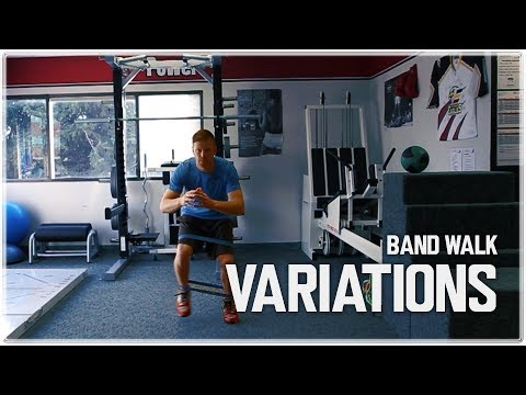 Lateral Band Walks Variations for Athletes | Glute Med. Activation
