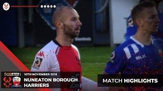 Match Highlights: Nuneaton Borough 1-1 Harriers 10/11/18