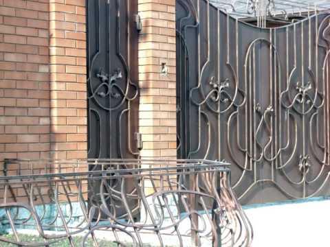 Красивый забор, ворота ,калитка для частного дома ,для загородного дома ,для дачи