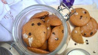 Овсяное печенье с протеином и шоколадом