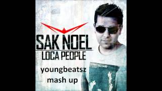 afrojack vs sak noel say what the fack (youngbeatsz mash up)