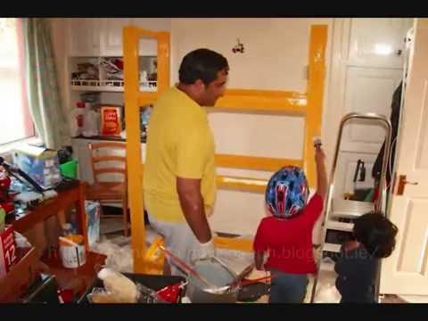 STOP MOTION VIDEO~~Building Wooden Kitchen Shelf...Painting shelf DIY Storage solution
