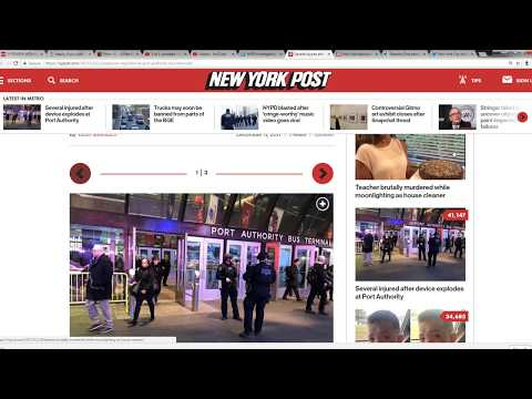 Several Injured After Blast At NYC Port Authority
