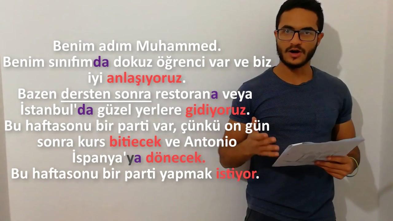 تدريبات وقرآة لتعلم اللغة التركية - القصة الثانية (2)