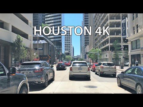 Houston 4K - Skyscraper Drive - Driving Downtown - Texas USA