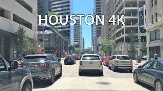 Houston 4k - Driving Downtown Usa