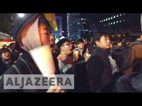 South Korean protesters call for president's resignation