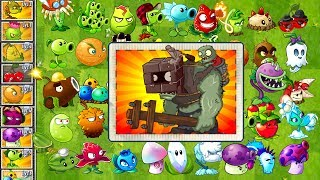 Plants vs Zombies 2 Every Premium and Free Plant Power Up vs Brickhead Zombie from Modern Day PVZ 2