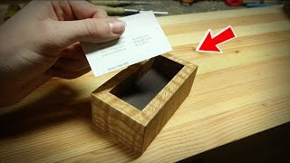 Super Simple DIY Business Card Holder!