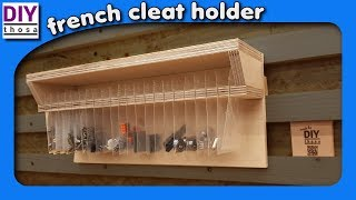 How to make a Zip Bag Holder for small Stuff ( French Cleat )