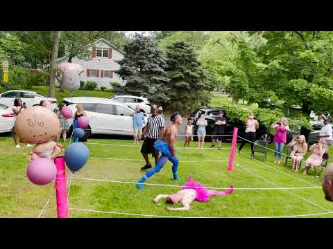 Couple-Holds-WWE-Style-Gender-Reveal-Party