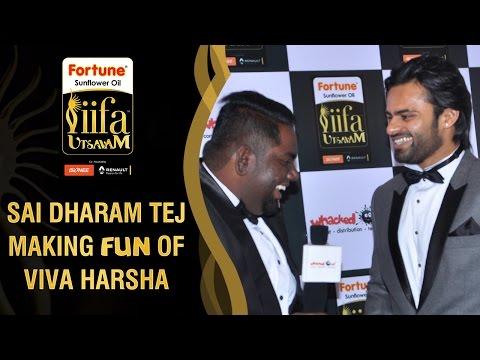 Sai Dharam Tej Making Fun of Viva Harsha | #Be1forChennai | IIFA Utsavam 2016