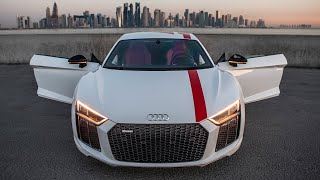 THE ONLY REAR WHEEL DRIVE AUDI - 2018 1of999 R8 V10 RWS (540hp,V10,NA) on streets of luxury Doha