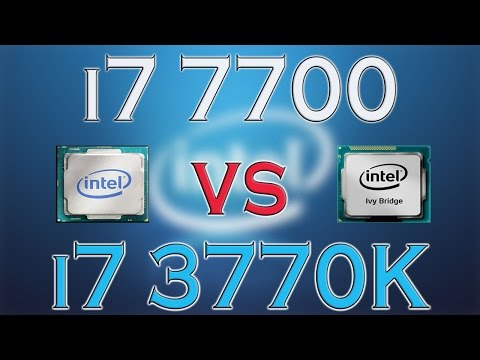 i7 7700 vs i7 3770K - BENCHMARKS / GAMING TESTS REVIEW AND COMPARISON / Kaby Lake vs Ivy Bridge