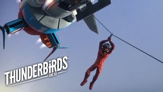 Brains Ziplines Onto The Runaway Train | Thunderbirds Are Go Clip
