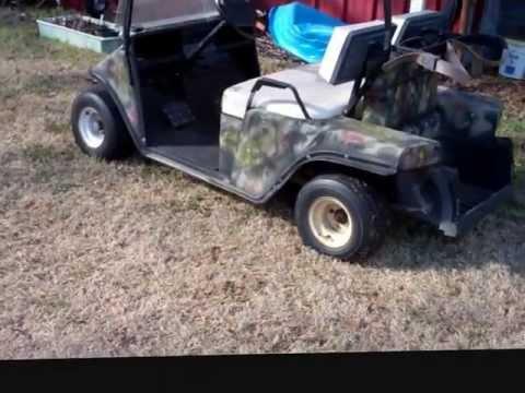 Camo Golf Cart Project