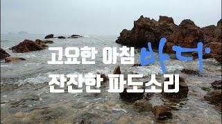 【自然音】마음을 안정시키는 파도소리 장삼포 새벽[겨울바…