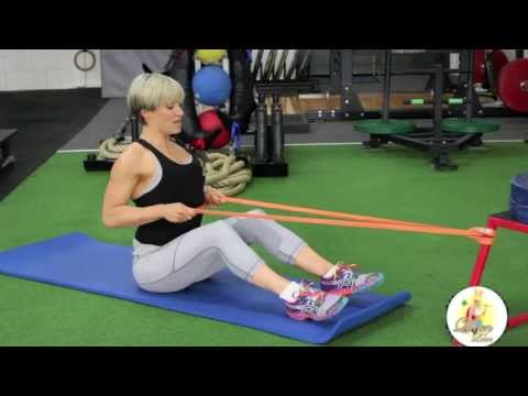 Seated Row with Resistance Band
