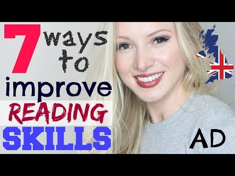 7 ways to IMPROVE ENGLISH READING skills and comprehension | Learning English Technique Lesson #AD