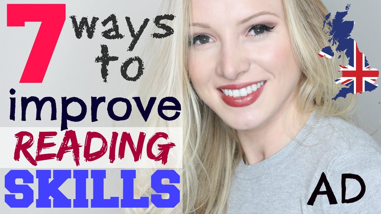 7 ways to IMPROVE ENGLISH READING skills and comprehension   Learning English Technique Lesson #AD